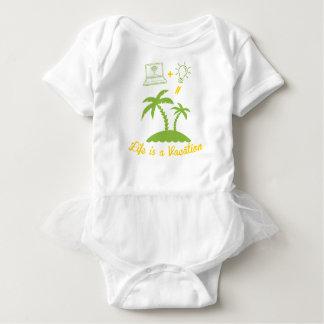 Body Para Bebê A vida é umas férias