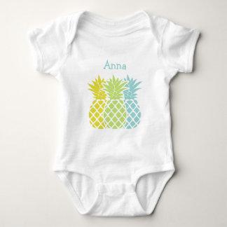 Body Para Bebê Abacaxis coloridos