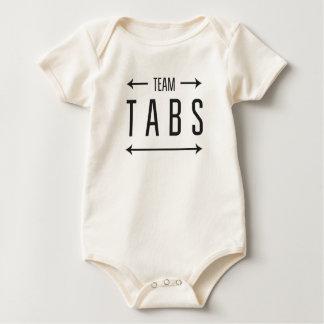 Body Para Bebê Abas da equipe