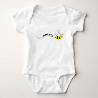Body Para Bebê Abelha pequena ocupada dos desenhos animados