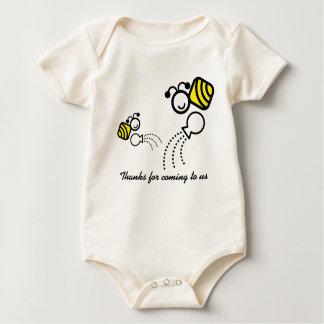 Body Para Bebê abelhas felizes do trabalho