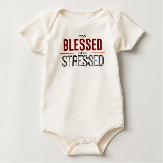 Body Para Bebê Abençoado demasiado para ser forçado