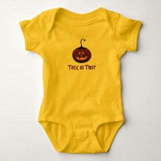 Body Para Bebê Abóbora assustador da doçura ou travessura feliz