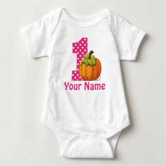 Body Para Bebê Abóbora da menina do primeiro aniversario