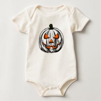 Body Para Bebê Abóbora gigante - branco