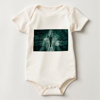 Body Para Bebê Abraçando a nova tecnologia do futuro como a arte