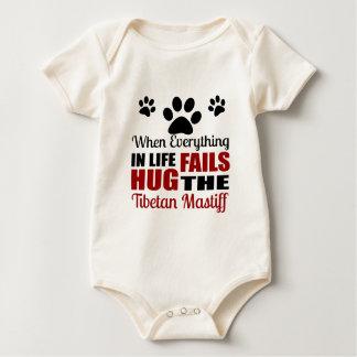 Body Para Bebê Abrace o cão do Mastiff tibetano