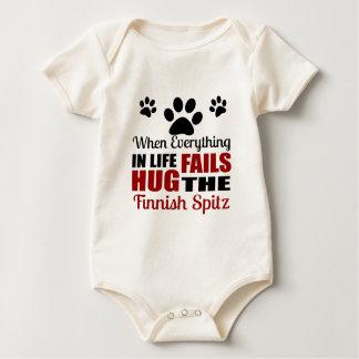 Body Para Bebê Abrace o cão finlandês do Spitz
