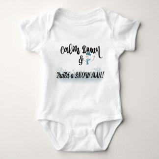 Body Para Bebê Acalme para baixo e construa um boneco de neve!