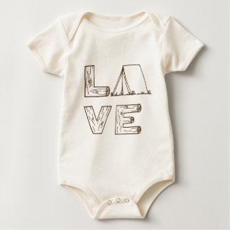 Body Para Bebê Acampamento da barraca do amor