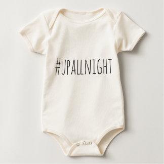Body Para Bebê Acima toda a noite de Hashtag
