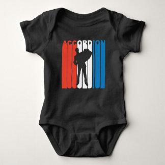 Body Para Bebê Acordeão branco e azul vermelho