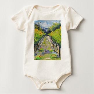 Body Para Bebê Adega de Califórnia, videiras do vinhedo do verão
