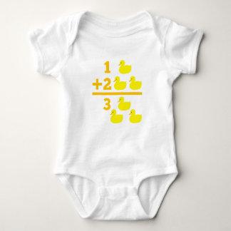 Body Para Bebê Adição 1 do patinho mais 2 com números