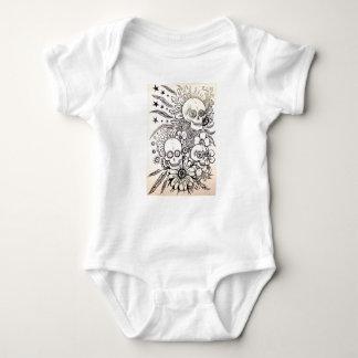 Body Para Bebê adoce o dia do crânio da arte inoperante do