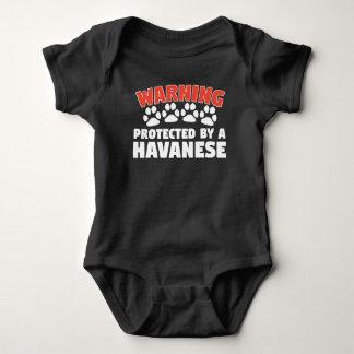 Body Para Bebê Advertência protegida por um Havanese