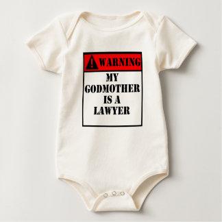 Body Para Bebê Advertir minha madrinha é um advogado