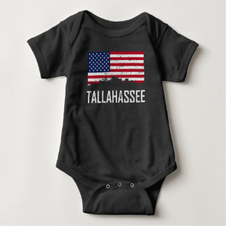 Body Para Bebê Aflição da bandeira americana da skyline de