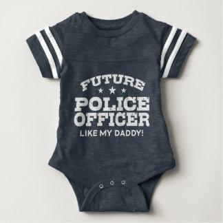 Body Para Bebê Agente da polícia futuro