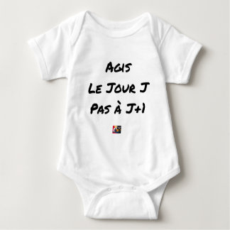 Body Para Bebê AGIDOS O DIA J, NÃO À J+1 - Jogos de palavras
