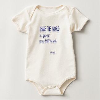 Body Para Bebê AGITE o mundo - em uma maneira delicada