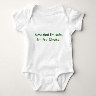 Body Para Bebê Agora que eu sou seguro, eu sou Pro-Escolha