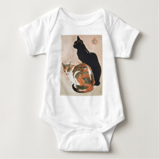 Body Para Bebê Aguarela - 2 gatos - Théophile Alexandre Steinlen