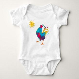 Body Para Bebê Aguarela colorida do galo do animal de estimação