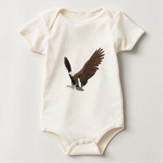 Body Para Bebê Águia americana que entra para uma aterragem