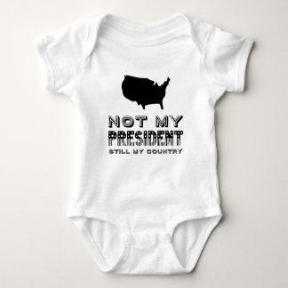 Body Para Bebê Ainda meu país não meu preto do presidente América