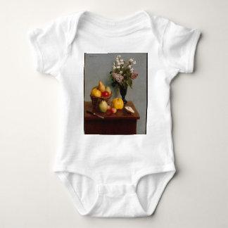 Body Para Bebê Ainda vida com flores e fruta