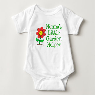 Body Para Bebê Ajudante do jardim de Nonna pouco
