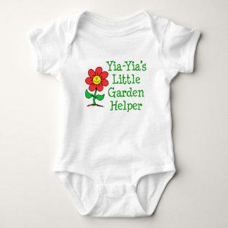 Body Para Bebê Ajudante do jardim de Yia-Yia pouco
