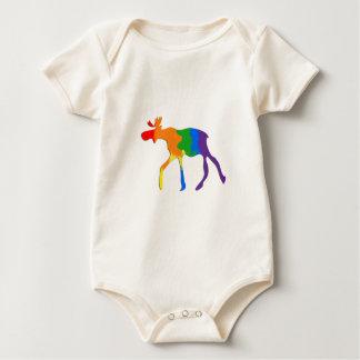 Body Para Bebê Alces alegres & lésbicas de Canadá do orgulho