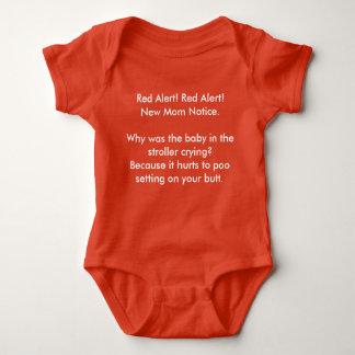 Body Para Bebê Alerta vermelho da observação nova da mamã
