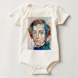 Body Para Bebê Alexis de tocqueville - retrato da aguarela