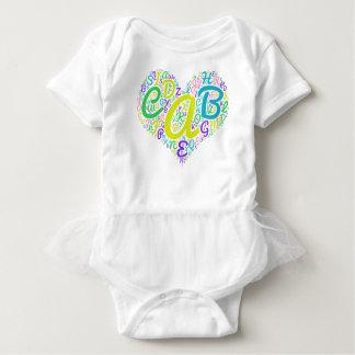Body Para Bebê alfabeto do amor