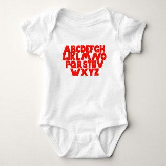 Body Para Bebê Alfabeto inglês