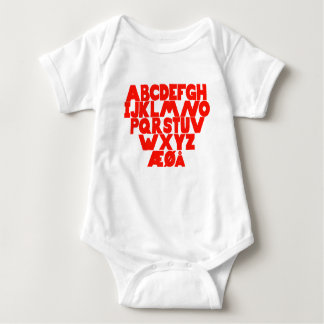 Body Para Bebê Alfabeto norueguês