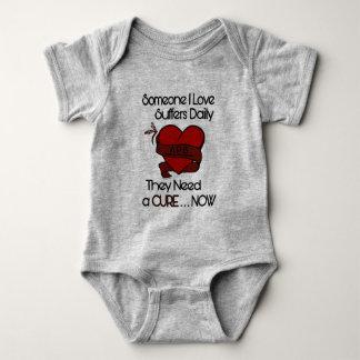 Body Para Bebê Alguém coração do amor de I…/fita… APS