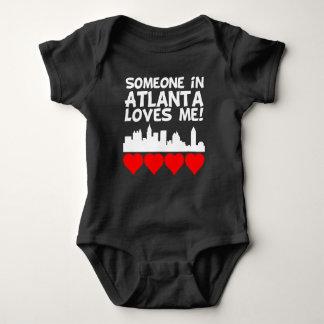 Body Para Bebê Alguém em Atlanta Geórgia ama-me