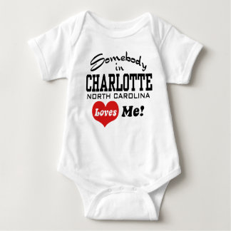 Body Para Bebê Alguém em Charlotte North Carolina ama-me