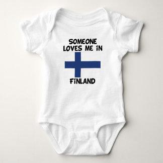 Body Para Bebê Alguém em Finlandia ama-me