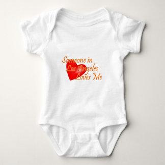 Body Para Bebê Alguém em Los Angeles ama-me
