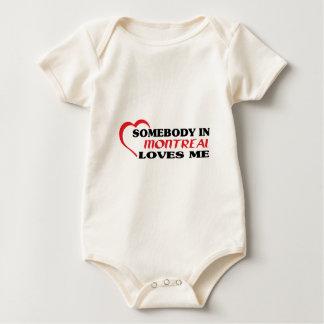 Body Para Bebê Alguém em Montreal ama-me