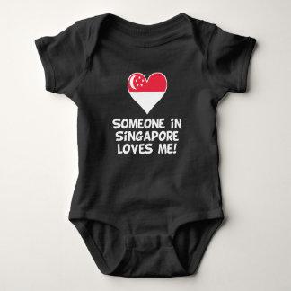 Body Para Bebê Alguém em Singapore ama-me