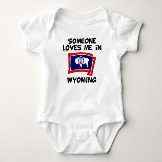 Body Para Bebê Alguém em Wyoming ama-me