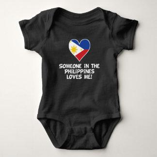 Body Para Bebê Alguém nas Filipinas ama-me