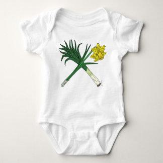 Body Para Bebê Alho-porro e Daffodil cruzados