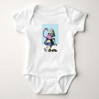 Body Para Bebê Alice brincalhão no país das maravilhas. Arte